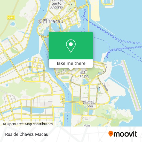 Rua de Chavez map