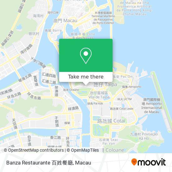 Banza Restaurante 百姓餐廳 map