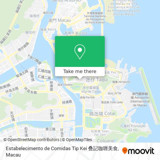 Estabelecimento de Comidas Tip Kei 叠記咖喱美食 map