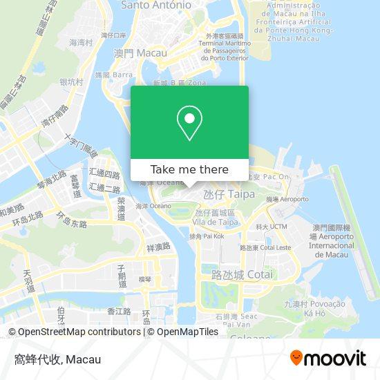 窩蜂代收 map