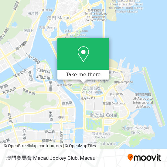 澳門賽馬會 Macau Jockey Club map