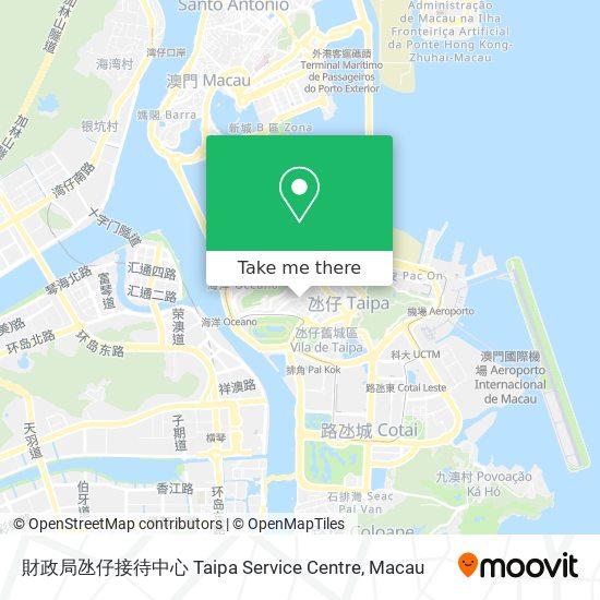 財政局氹仔接待中心 Taipa Service Centre map