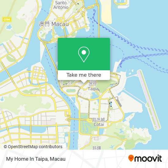 My Home In Taipa map