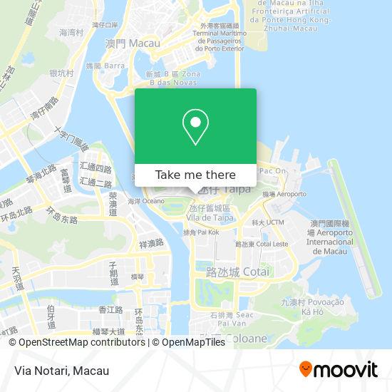 Via Notari map