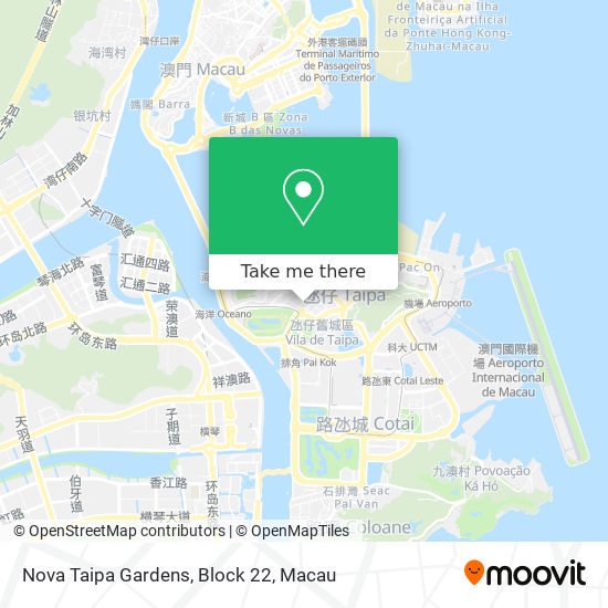 Nova Taipa Gardens, Block 22 map