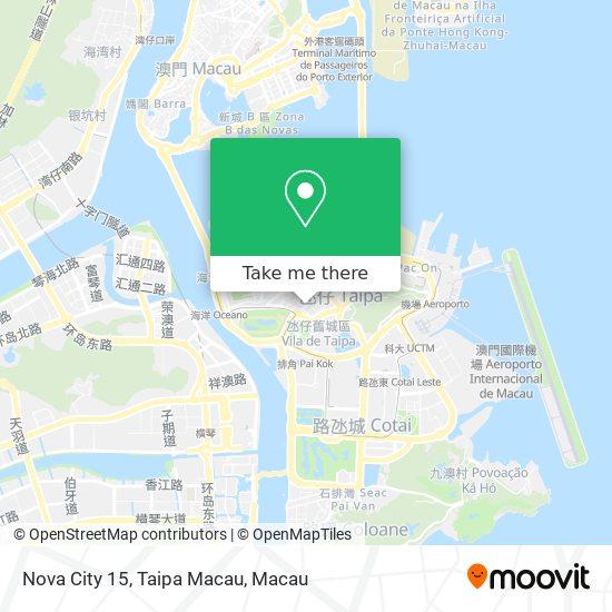 Nova City 15, Taipa Macau map