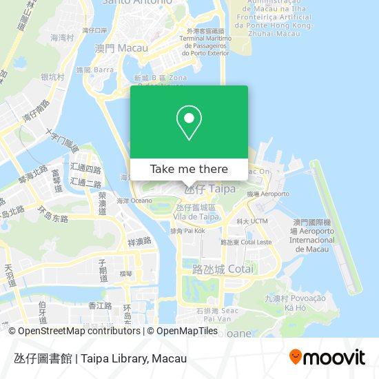 氹仔圖書館 | Taipa Library map