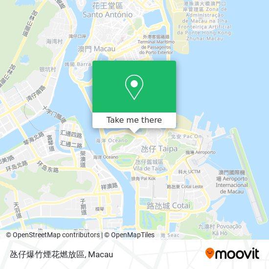 氹仔爆竹煙花燃放區 map