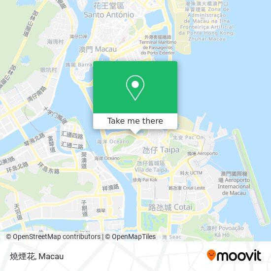 燒煙花 map