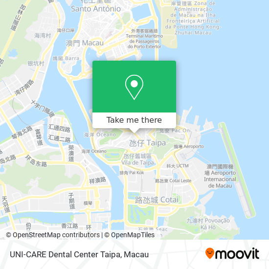 UNI-CARE Dental Center Taipa map