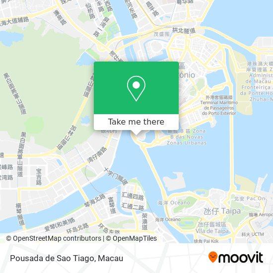Pousada de Sao Tiago map