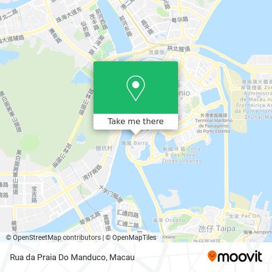 Rua da Praia Do Manduco map