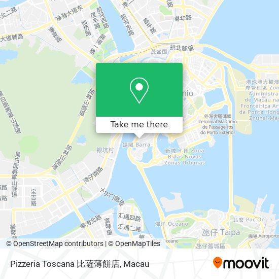 Pizzeria Toscana 比薩薄餅店 map