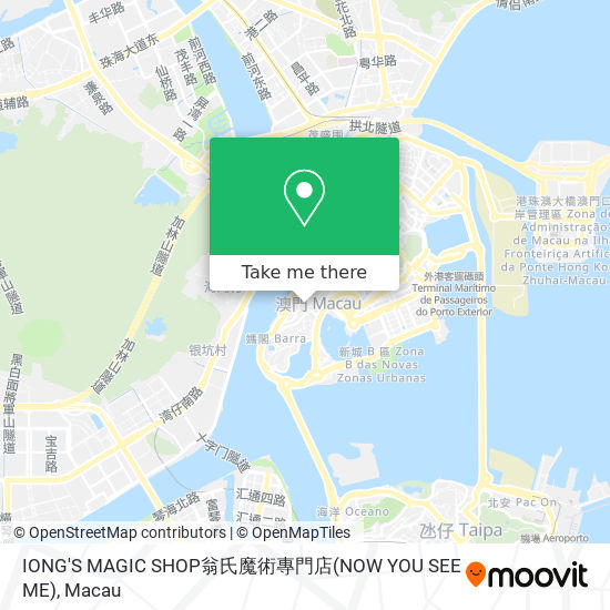 IONG'S MAGIC SHOP翁氏魔術專門店(NOW YOU SEE ME) map