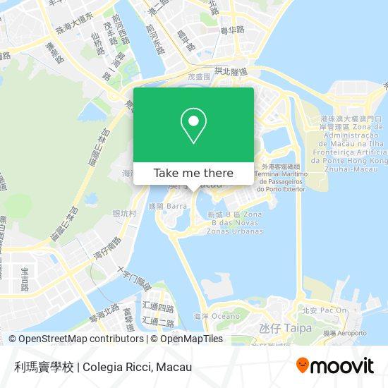 利瑪竇學校   Colegia Ricci map