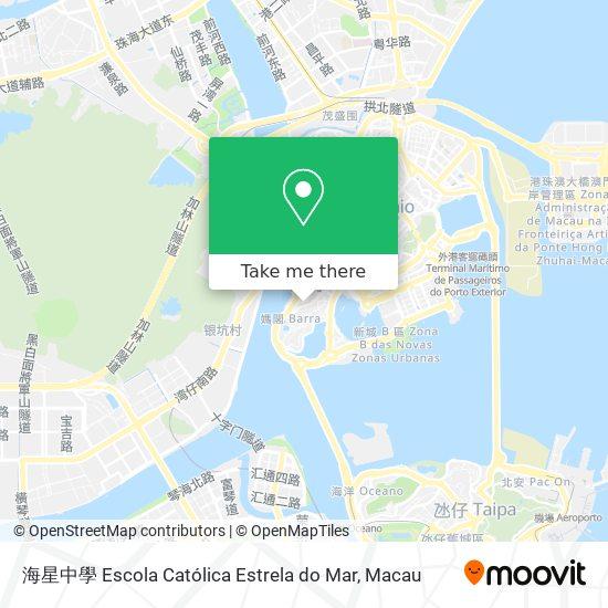 海星中學 Escola Católica Estrela do Mar map