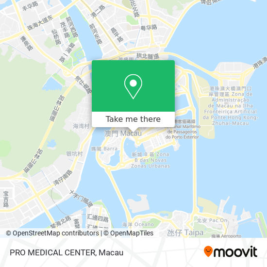 PRO MEDICAL CENTER map
