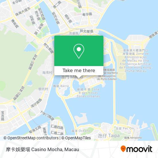 摩卡娛樂場 Casino Mocha map