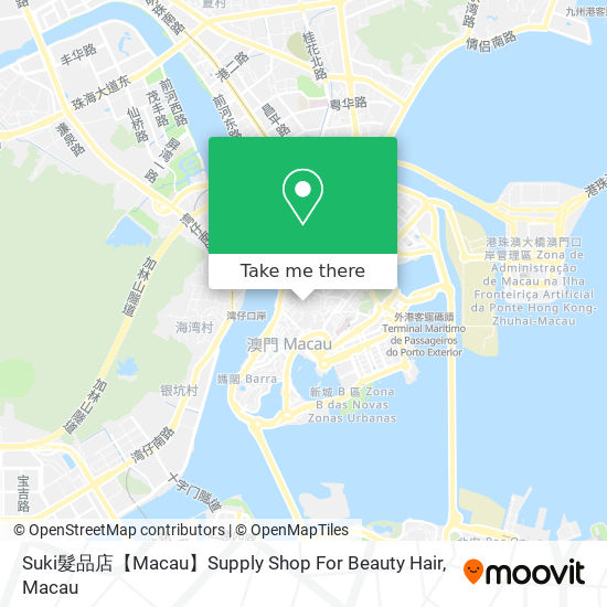 Suki髮品店【Macau】Supply Shop For Beauty Hair map