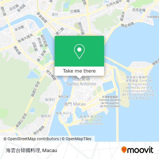 海雲台韓國料理 map