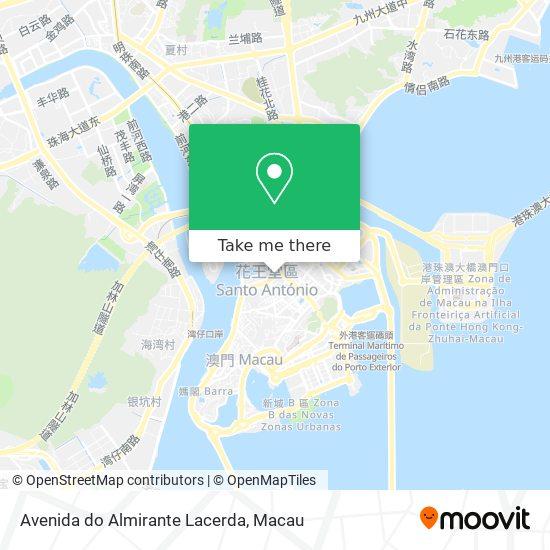 Avenida do Almirante Lacerda map