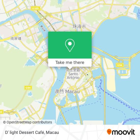 D' light Dessert Café map
