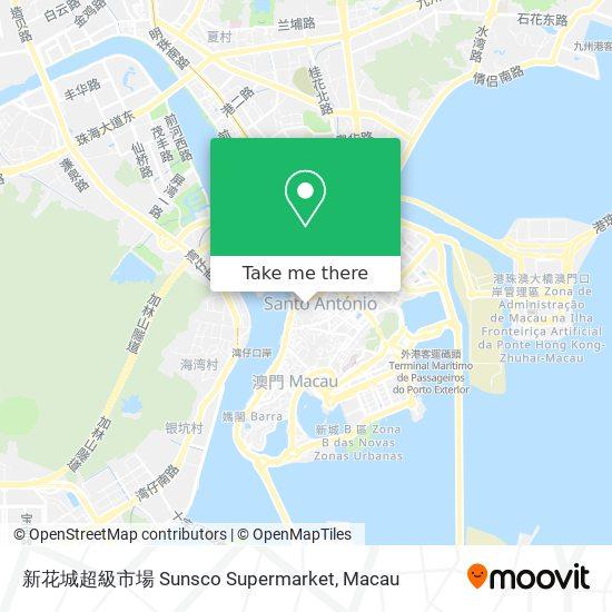 新花城超級市場 Sunsco Supermarket map