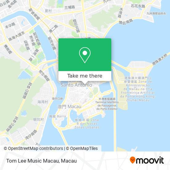 Tom Lee Music Macau map