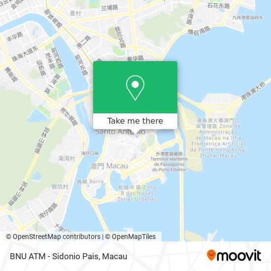 BNU ATM - Sidonio Pais map