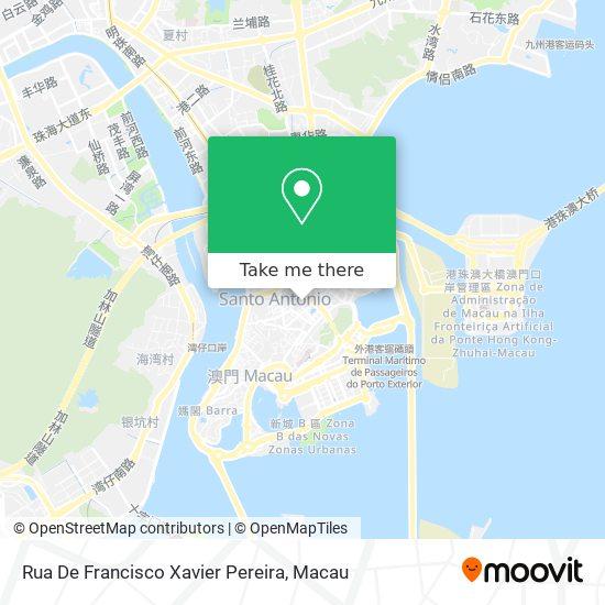 Rua De Francisco Xavier Pereira map