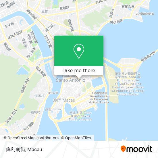 俾利喇街 map