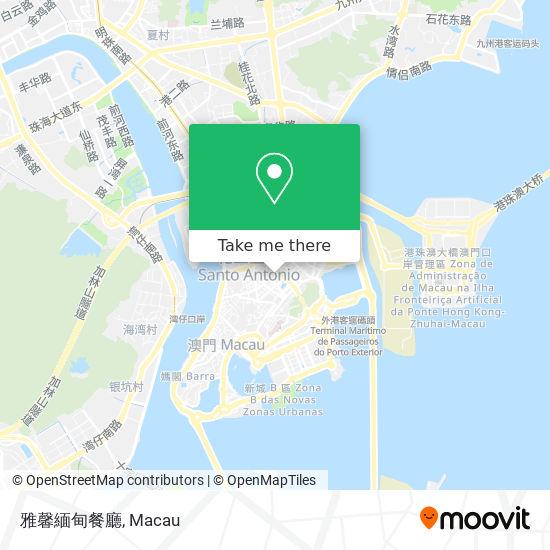 雅馨緬甸餐廳 map