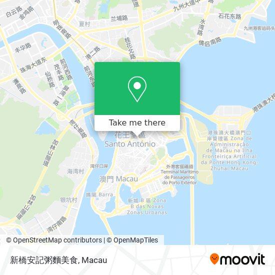 新橋安記粥麵美食 map