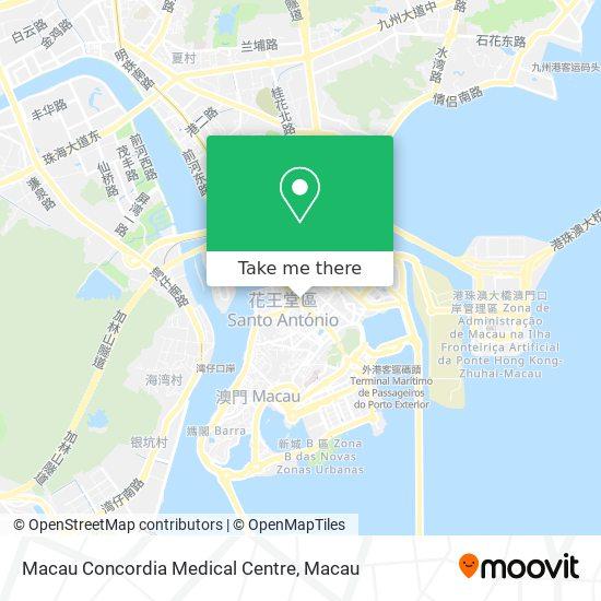 Macau Concordia Medical Centre map