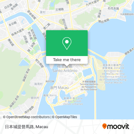 日本城提督馬路 map