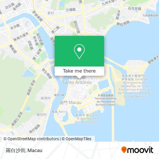 羅白沙街 map
