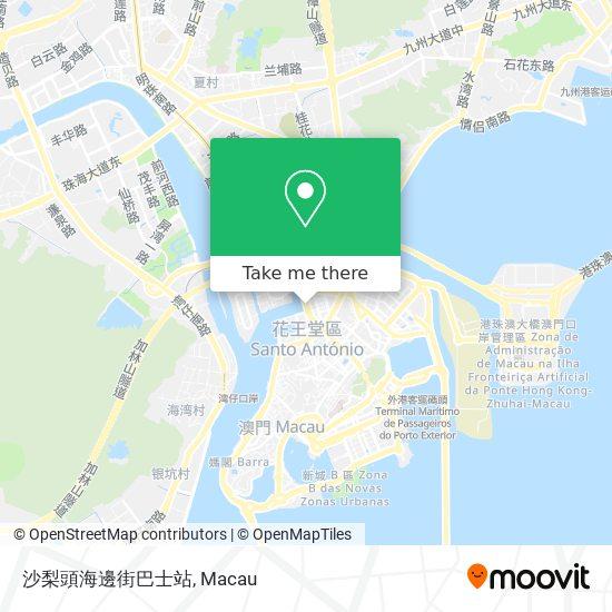 沙梨頭海邊街巴士站 map