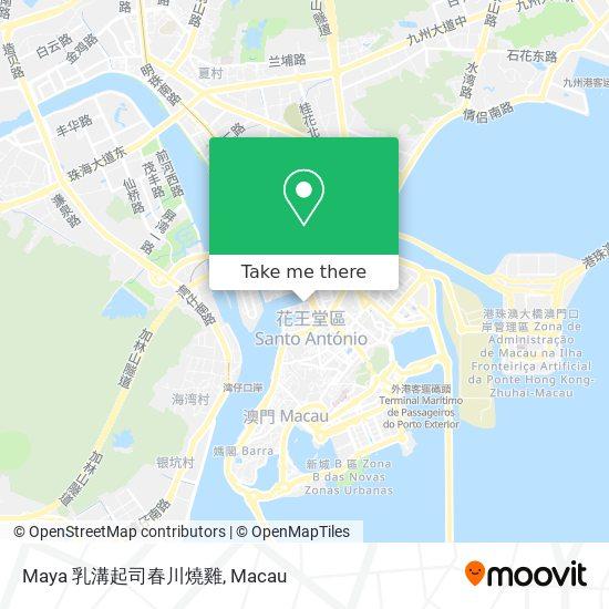 Maya 乳溝起司春川燒雞 map