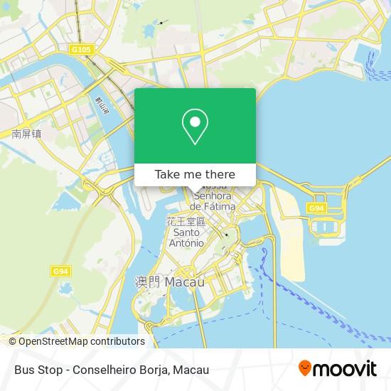 Bus Stop - Conselheiro Borja map