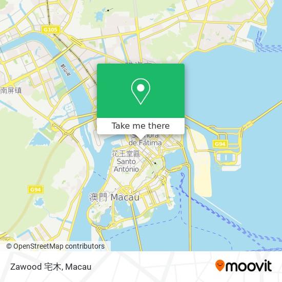 Zawood 宅木 map