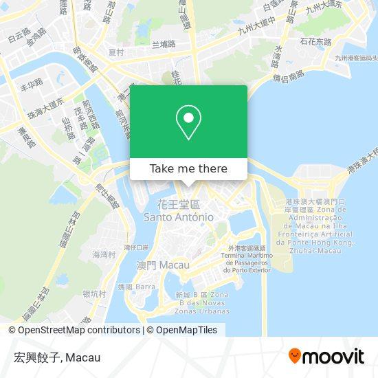 宏興餃子 map