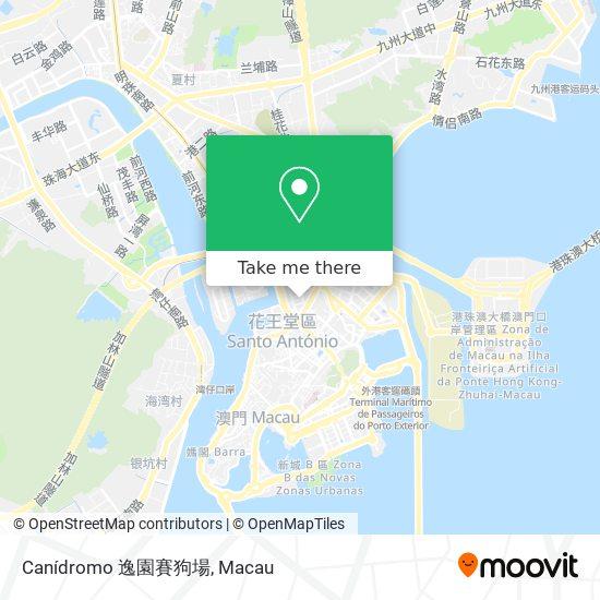 Canídromo 逸園賽狗場 map