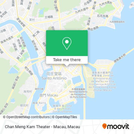 Chan Meng Kam Theater - Macau map