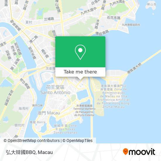 弘大韓國BBQ map