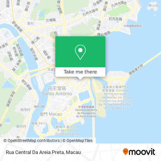 Rua Central Da Areia Preta map