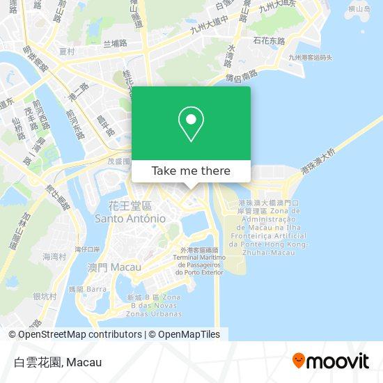白雲花園 map