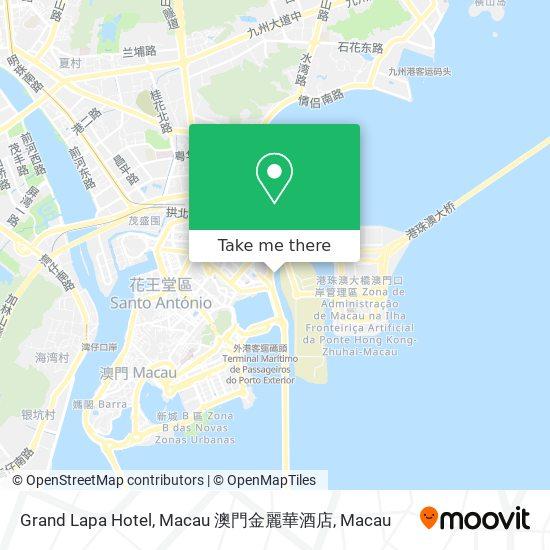 Grand Lapa Hotel, Macau 澳門金麗華酒店 map