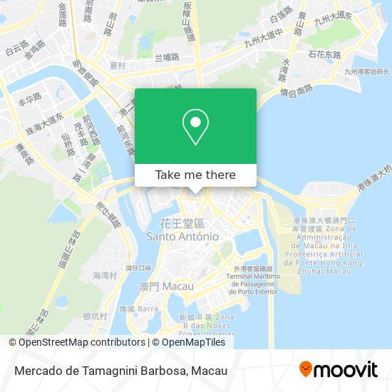 Mercado de Tamagnini Barbosa map