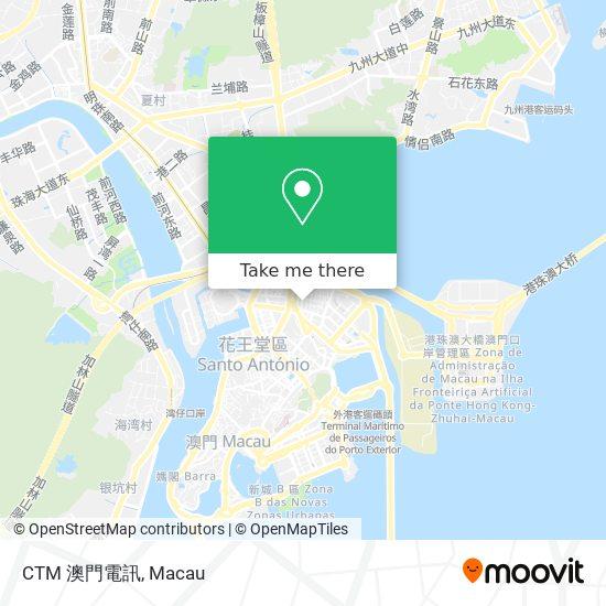 CTM 澳門電訊 map