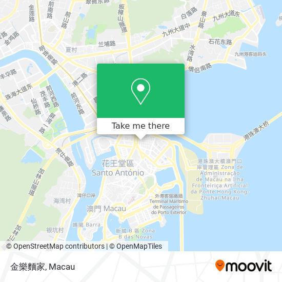 金樂麵家 map